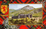 Valentine Postcard  -  Tartan Border  -  Royal Stewart  -  The Palace of Holyroodhouse