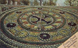 Postcard by Marshall Wane & Co, Edinburgh -  Floral Clock in Princes Street Gardens  -  1906