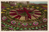 JB White postcard of the the Floral Clock in West Princes Street Gardens - colour