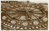 JB White postcard of the the Floral Clock in West Princes Street Gardens - sepia