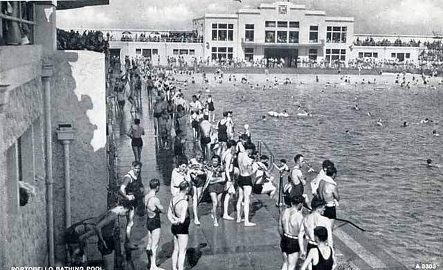 Portobello bathing pool jb white postcard no a3303 - Dundee swimming pool opening times ...