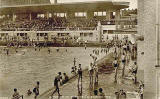 Portobello Bathing Pool  -  Valentine Postcard -  1936