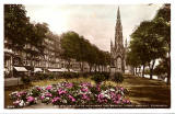 JB White postcard of the Scott Monument, Princes Street - sepia