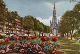 JB White - A coloured postcard  -  The Scott Monument, Princes Street
