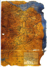 Map of SE Scotland (1725) on a Postcard, published by Whiteholme of Dundee