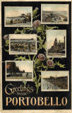 Postcard with six views of Portobello by Wilberforce Lodge IOGT