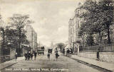 W R & S Postcard  -  Corstorphine, Saint John's Road, looking west