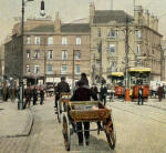 W R & S Series postcard  -   Foot of Leith Walk