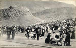 W R & S Postcard  -  Holyrood Park  -  Children's Knox Demonstration, Blue Platform