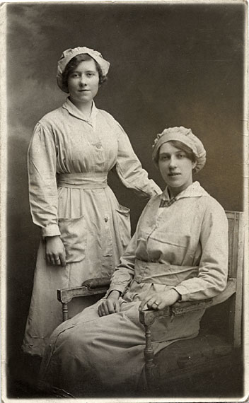 GR Mackay  -  Postcard Portrait  -  Two Ladies  -  Are they Maids?