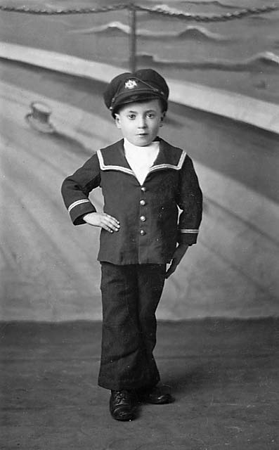 Photograph of a boy in sailor's suit, taken around 1914-15, probably by Morrison's Studio, Edinburgh