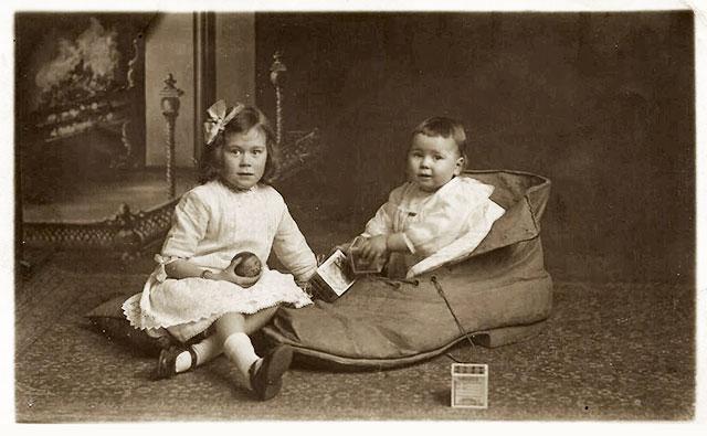 postcard by morrisons family possibly wearing edwardian. Black Bedroom Furniture Sets. Home Design Ideas