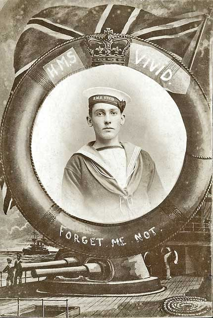 Postcard from Morriso's Studio  -  perhaps   - Sailor  -  HMS Vivid