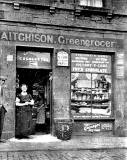 Shop at the foot of Arthur Street  -  Aitchison Greengrocer.  Photo possibly taken just before World War 1.