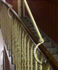 Attachments on the bannisters at a tenement building in Balcarres Street, Morningside, Edinburgh