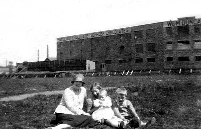 Beaverhall Road  -  W & M Duncan's Chocolate Factory, around 1927