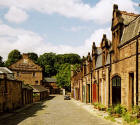 Belford Mews and Whytock & Reid close to the Water of Leith and Dean Village
