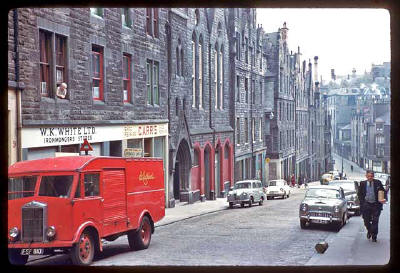 Photograph taken by Charles W Cushman in 1961 - Blackfriars Street, Edinburgh Old Town
