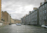 View to the west along Buccleuch Place towards Buccleuch Street