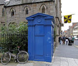 Police Box on the corner of Canongate and Cranston Street, beside the Edinburgh School of English
