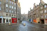Looking to the west down the Cowgate from the foot of West Bow in the Grassmarket