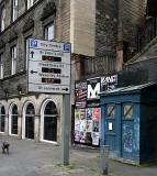 Police Box in Cowgate, close to the Salvaton Army building at the foot of Pleasance  -  October 2010