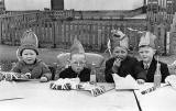 Coronation Party at the prefabs, Craigour Avenue  -  Photo taken 1953