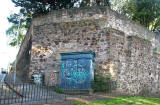 Police Box beneath the Floddon Wall at the corner of Drummond Street and Pleasance
