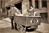 A Lanny and his ice cream shop in Henderson Street, Leith, 1924