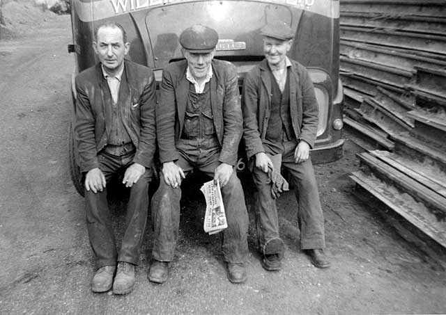 Three workers from William Waugh, Metal Merchants, 6 and 8, Dumbiedykes Road
