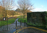 Entrance to Holyrood Park at the southern end of St Leonard's Bank