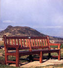 A Park Bench on Blackford Hill  -  One of the photographs by Graham Clark in the 'Benchmark' exhibition  at the City Art Centre, from 20 March to 22 May 2004.