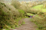 Climbing the Steps to Blackford Hill from Hermitage of Braid House