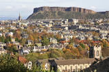 Looking to the NNE towards Salisbury Crags and the Firth of Forth from below the Royal Observatory, Blackford Hill
