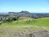 View to the NE from Blackford Hill towards Arthur's Seat and Salisbury Crags in Holyrood Park