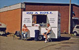 Refreshement van at Stewartfield, Bonnington  -  October 2005