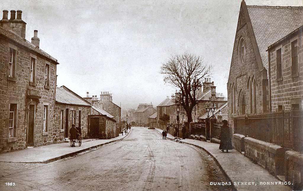 Dundas Street Bonnyrigg An Early Postcard