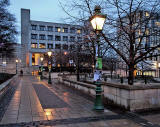 New Edinburgh University University Buildings and Lamp Posts in Bristo Square
