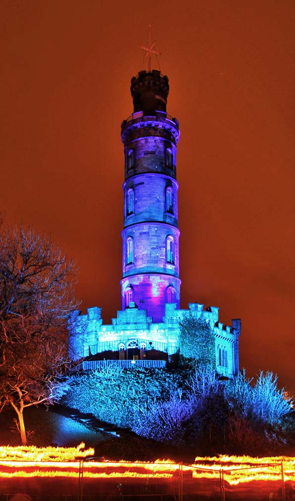 Photo taken at Calton Hill on the evening of the Torchlight Procession  -  December 30, 2011