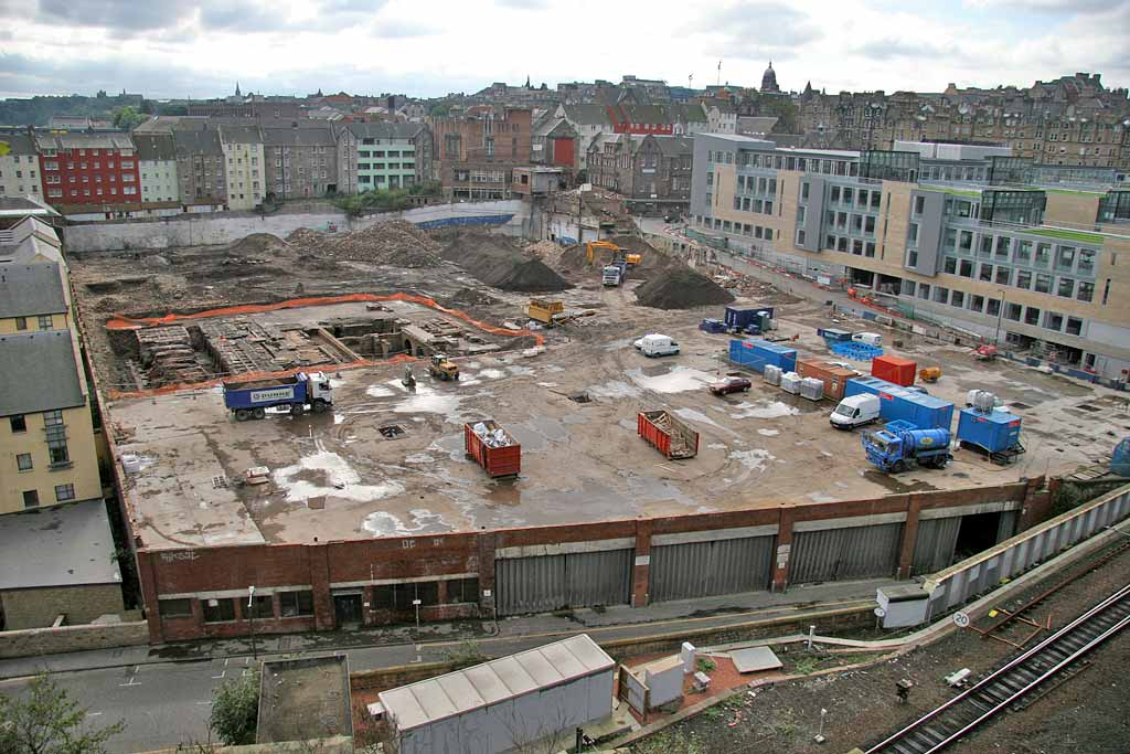 Excavations beneath the Eastern Scottish Bus Depot in New Street