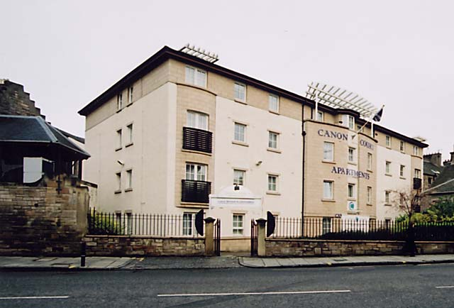 Canon Court Apartments, Canonmills  -  built on the site of the former stone works then Christmas Tree Warehouse