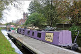 Canal Barge on the Union Canal, Polwarth, Edinburgh  -  October 2014