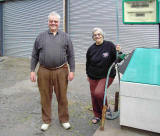 Tommy and Margeret Douglas, Owners of the Petrol Station, Burrell Street, Comrie - 2008