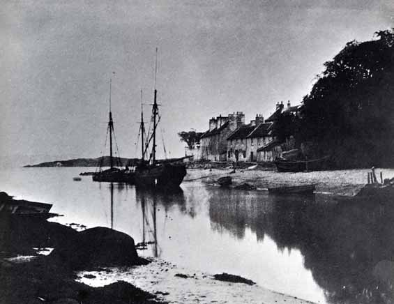 Cramond and old boats - photograph possibly taken by JCH Balmain