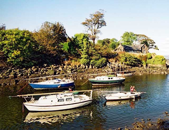 Boats and Ferry House  -  Cramond  -  October 2003