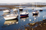 Cramond  -  Boats and swans  -  October 2003