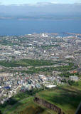 Edinburgh and Leith  -  view to the north from a helicopter