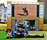 Watching the 2012 Paralympic Games on the Big Scteen in Festival Square
