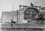 Building an arch.  Was this one of the arhes for the approach to the Forth Bridge at North Queensferry?
