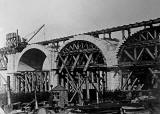 Building arches.  Were these arhes for the approach to the Forth Bridge at North Queensferry?
